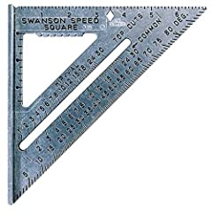 The Speed Square, made in the USA since 1925, is essential for every carpenter, construction professional, roofer, and DIYer Speed Square belongs on every tradesman's tool bench; includes Try Square, Miter Square, saw guide, line scriber, and protrac...