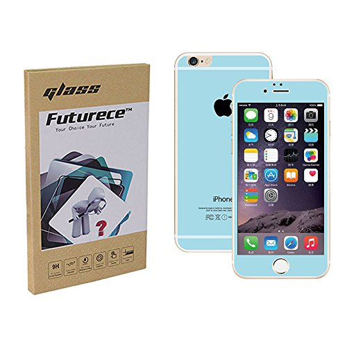 """Blue Colorful Tempered Glass Screen Protector For iPhone 6 / iPhone 6S Security Guard Film Anti Bubble Extreme Clarity Shield Anti Scratch Fingerprint Resistant Explosion Proof Oleophobic 4.7""""Screen"""