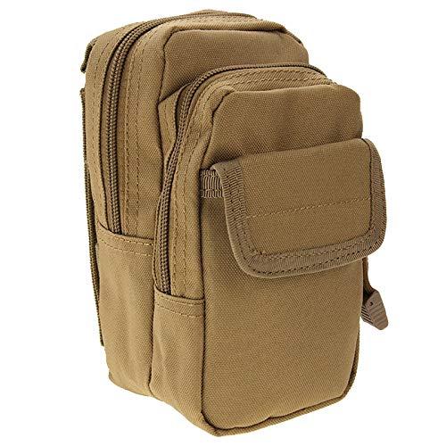 LBLB Sac en Nylon Fort à Haute densité Multifonctionnel de Taille de Tissu d'ASG/Sac d'appareil-Photo/Sac de téléphone Portable, Taille: 9.5 x 18.5 x 8cm (Vert d'armée) (Couleur : Khaki)
