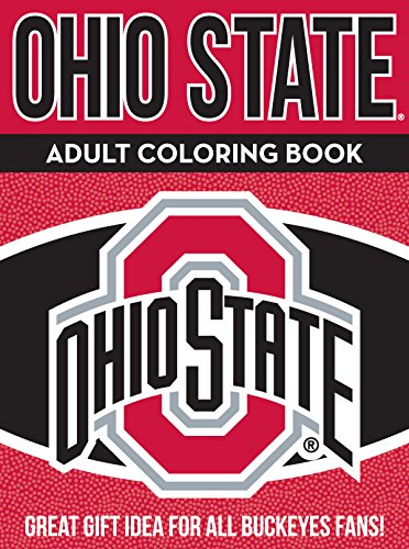 In the Sports Zone NCAA Ohio State Buckeyes Adult Coloring Book, Red, 96 Pages
