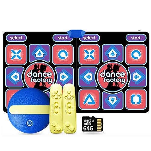 WYH Intéressant 64G 11mm HD sans Fil Double Danse Blanket Interface TV somatosensoriel Dance Machine Accueil Perte de Poids Yoga Danse Main Blanket Courir Sensible (Color : C)