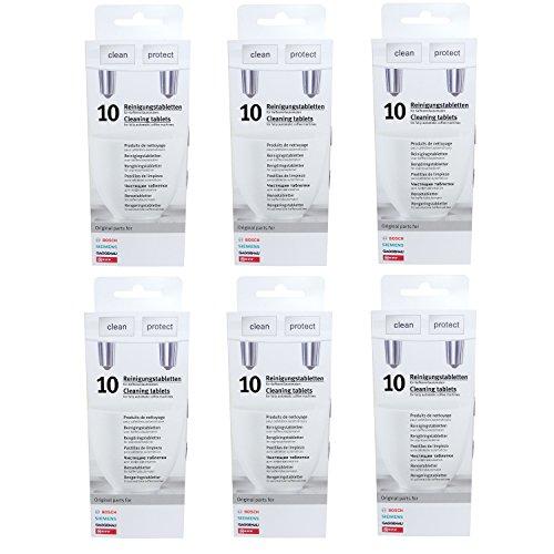 6er Pack Reinigungstabletten für Kaffeevollautomaten Siemens/Bosch/Neff/Gaggenau - 00311769 ersetzen TZ60001,310575, TCZ6001