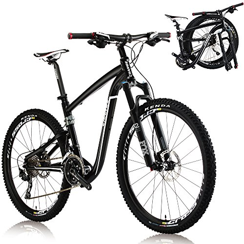 Best Price CHANGE 26 Inch Compact Full Size Mountain Folding Bike Shimano Deore 3x10 speeds DF-612BF...
