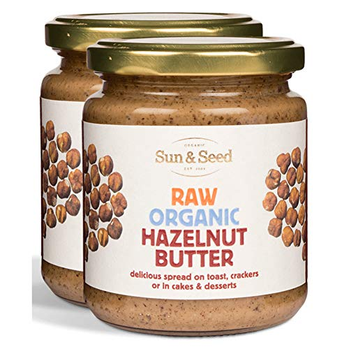 Sun and Seed  Organic Raw Hazelnut Butter  Gluten Free and Keto Friendly  Ultra Healthy And Nutritious High Protein Spread  Rich in Folate and B-complex Vitamins (Hazelnut, 2 Pack)