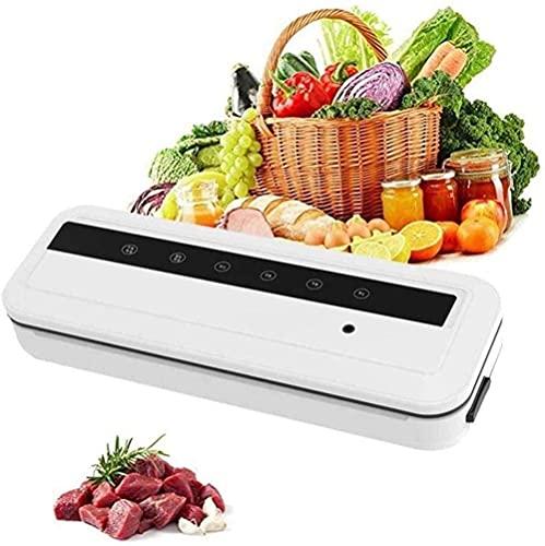 LSDRALOBPOI Envasadora al vacío automática Sellador al vacío Automático Envasadora automática al vacío, envasadora automática de un Toque para Carne, Huevos, Verduras y Frutas, Color Negro
