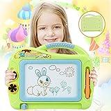 Parsion Ardoise Magique Enfant Tableau de Dessin Magnétique Effaçable Multicolore pour Bébés avec 2 Timbres et 1 Stylo, Aimant Loisir Créatif Jouet Educatif (Vert)