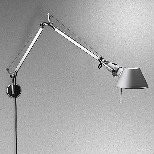 Artemide Tolomeo Mini LED Tischlampe mit Fuss, Aluminium