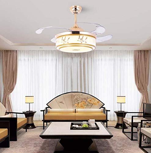 FAGavin Lámpara colgante tradicional china para sala de estar, comedor, dormitorio, ventilador de pared, ventilador de techo, moderno, minimalista, 48 x 45 cm
