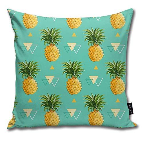 XCNGG Funda de Almohada Funda de cojín de Almohada para el hogar Ropa de Cama Geometric Pineapple Background - Seamless Pattern Household Sofa Car Cushion Cover Double Side Bed Pillowcase 45cm 45cm