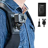 TELESIN Bag Backpack Shoulder Strap Mount with Adjustable Shoulder Pad and J Hook, Strap Holder...