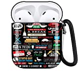 Friends TV AirPods Case Personalize Custom, AirPods Case Cover Compatible with Apple AirPods 1st/2nd,Full Protective Durable Shockproof Drop Proof with Key Chain Compatible