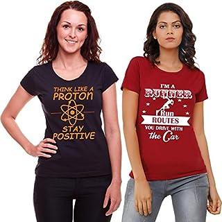 ADIMA Women's T-Shirt (Pack of 2)
