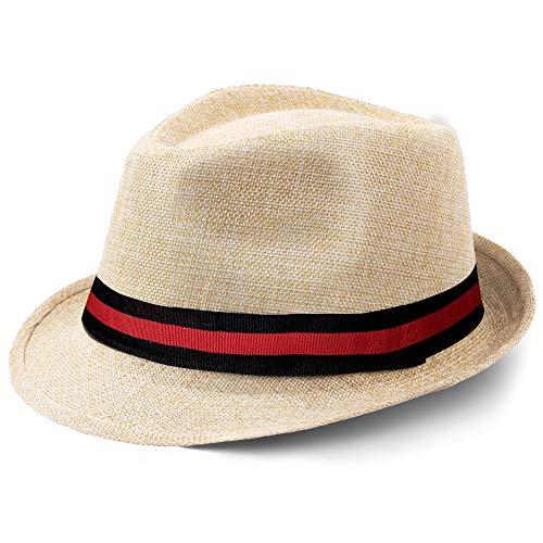 Coucoland Panama Sombrero Mafia Gangster Fedora Trilby Bogart para hombre 1920s Gatsby Estilo original de 2 colores. Talla única