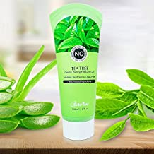 Exfoliating Peel Gel with Tea Tree & Glycolic Acid - A Non-scrub Natural Facial Exfoliant Instantly Removes Dead Skin Cells Revealing a Clear Refreshed Face (for All Skin Types)