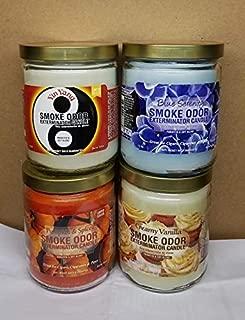 Smoke Odor Exterminator 13 oz Jar Candles Yin Yang Assorted (4) Includes Yin Yang, Creamy Vanilla, Blue Serenity & Pumpkin Spice.