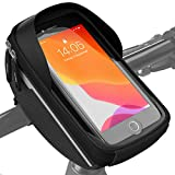 Velmia Fahrrad Lenkertasche Wasserdicht - Fahrrad Handyhalterung ideal zur Navigation - Fahrradtasche Lenker, Fahrrad Handytasche, Fahrradzubehör