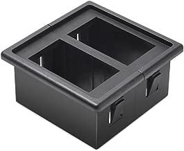 MicTuning MH002 2PCS Rocker Switch Holder Panel Housing Kit Fireproof ABS Plastic Black