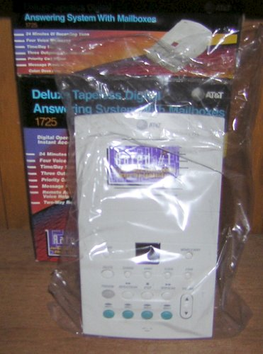 AT&T 1725 Digital Answering System with Voice Mailboxes (Dove Gray)
