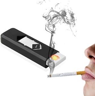 USB Electronic Cigarette Lighter Encendedor Rechargeable Battery Flameless Electric Cigar