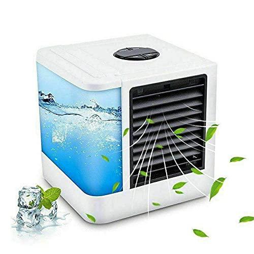 Refrigerador de aire doméstico Aire acondicionado personal Ventilador, Air Espacio personal Refrigerador Pequeño Ventilador de escritorio Pequeño Tabla Personal Ventilador Mini Evaporativo Acero Circu