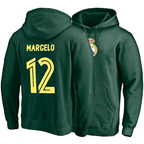 R & R Enterprises Marcelo Vieira da Silva Junior # 12 Sport Pullover Winter Pullover mit Kapuze gepolsterte Outdoor-Sweatshirts warme Jacke Feiertagsgeschenke (Color : Green, Size : X-Large)