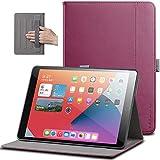X-level Funda para iPad 8 2020 y iPad 7 2019 10.2' con Portalápiz [Multiángulo]Trasera de TPU Suave con Bolsillo Auto-Reposo/Activación Funda para Modelo 2020 y 2019 10.2 Inch iPad 8ª / 7ª, Vino Rojo