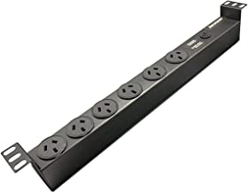 """Jackson 19"""" Rack Mount 6-Way Power Board with Surge Protection"""