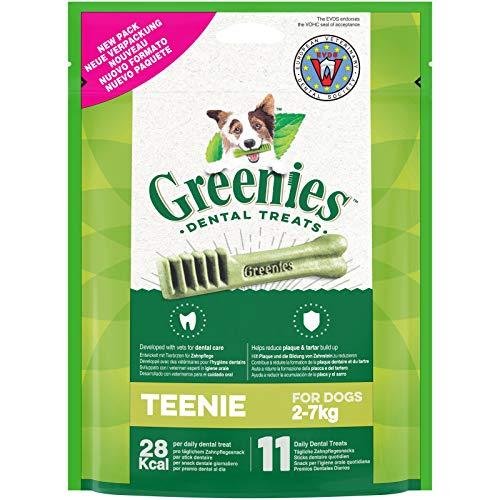 GREENIES Original Teenie – Friandises à mâcher pour très petit chien – 66 sticks pour une bonne hygiène bucco-dentaire – 6 sachets de 85g