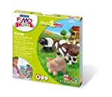 Staedtler - Fimo kids Form&Play - Set Ferme 4 Pains Pâte à Modeler 42 g Assortis + 1 Outil de Modelage + 1 DÃÂcor by MTD Products