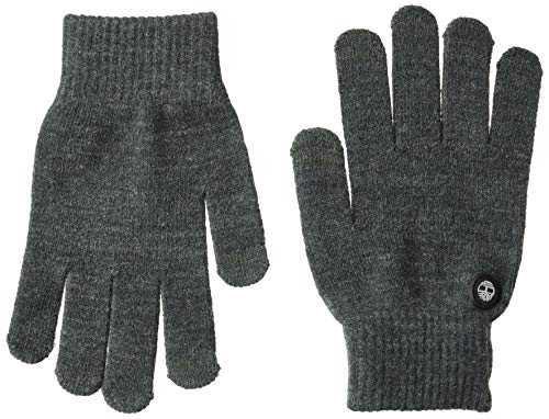 Timberland Men's Magic Glove with Touchscreen Technology, Charcoal Heather Gray, One Size