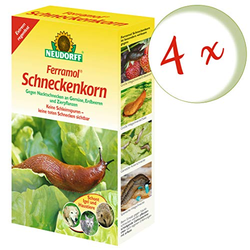 Oleanderhof® Sparset: 4 x NEUDORFF Ferramol® Schneckenkorn, 2 kg + gratis Oleanderhof Flyer
