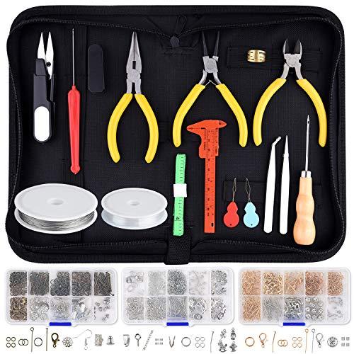 TUPARKA Schmuck Selber Machen Set,Ohrringe Selber Machen,Schmuckzubehör zur DIY Schmuck Basteln,Reparatur und Herstellung von Werkzeugen