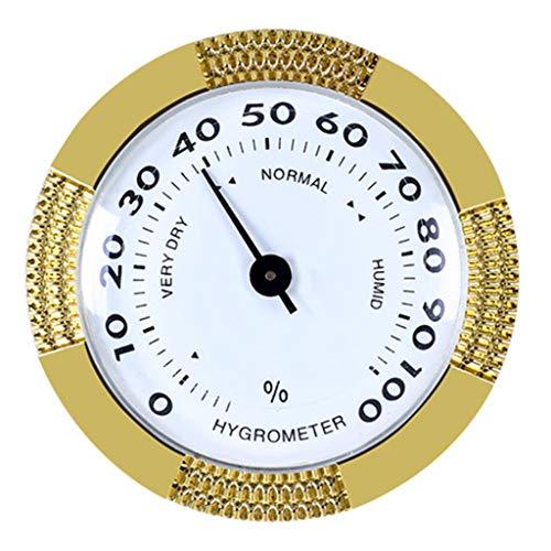 Gjyia Präzisions-Zigarren-Hygrometer Genauer tragbarer mechanischer Mini-Humidor-Detektor
