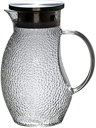 Jugs fresco Caldera de cristal Alta temperatura resistente a la temperatura Hervidor de rosca Taza de agua transparente Juego de té de jugo de hogar Cocina Esenciales 1000ml Resistente al calo