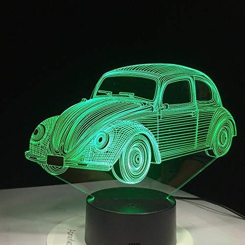 Lámpara de mesa 3D de modelado de coche de visión estéreo multicolor regalo para niños LED niños USB | regalo colorido luz de noche multicolor