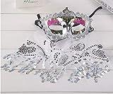 Fiesta de Maquillaje Fiesta Navidad Halloween Danza del Vientre Velo máscara de Dama Código Promedio Plata