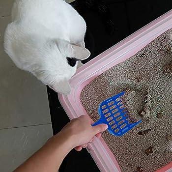 Pelle à litière Volila en plastique solide pour nettoyer litière des chats, bleu fonçé (3 Pcs) (bleu)