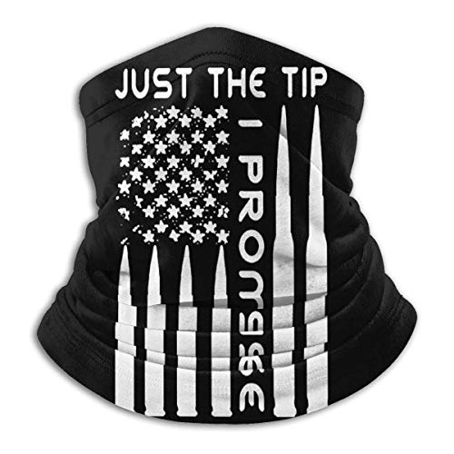 N / A Microfibre Cache-Cou,Respirant Balaclava,Elastique Bandeaux,Just The Tip I Promise USA Bullet Flag Half Face Headwear Unisexe Séchage Rapide Anitdust Sweatband