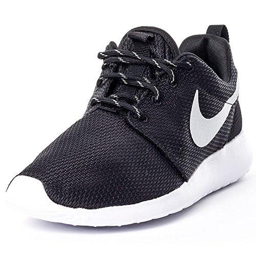 Nike Roshe Run - entrenamiento/correr Mujer, Black/Mtlc Platinum-White, 3 uk
