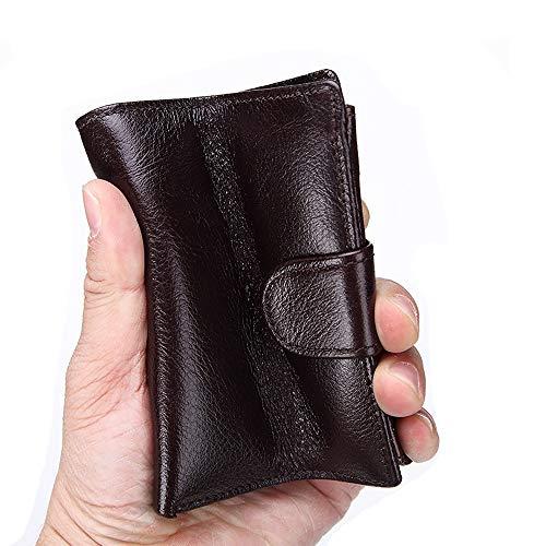 Mens portemonnee leder Rits Raam Ontwerp Credit Card Houder Met ID/Foto Venster Handtas