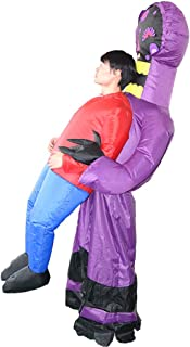 Ghost Inflatable Costume Blow up Costume Game Fancy Dress Adult Funny Jumpsuit Halloween Cosplay Outfit Gift