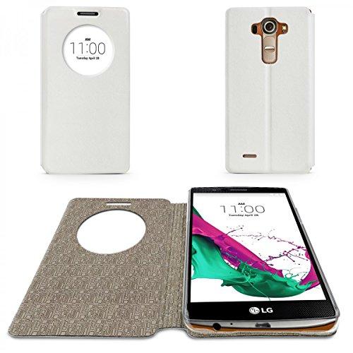 eFabrik Flip Cover para LG G4Funda Carcasa Case Funda Carcasa Funda Wallet Ventana