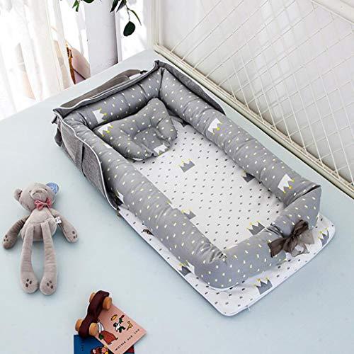 Nido Plegable del bebé, el bebé recién Nacido Ocioso, del Recién Nacido para Elegir el colecho, suavidad Portable Transpirable Cuna Cama, para el Dormitorio de Viajes (2)