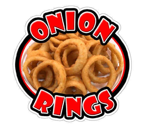 Onion Rings Concession Decal Sign Stand cart Fried Ring