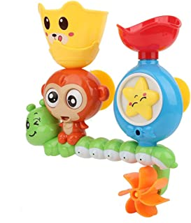 Toys for Toddlers, Not Fall Off Easily Highly Simulation Bathtub Toys, Toddlers for Children(Cute Monkey Turns Around)