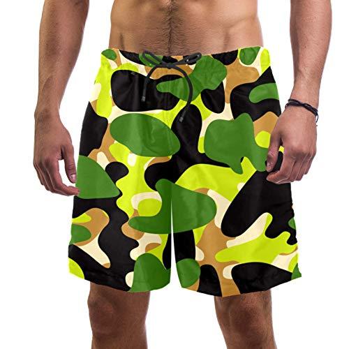 AITAI Pantalones cortos de playa para hombre Camo militar verde secado rápido deportes traje de baño traje de baño
