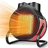 Calentadores Eléctricos Para Exteriores, Calefactor Industrial, Calefactor Cerámico PTC Ajustable, Calefactor Comercial Con Ahorro De Energía, Para Interiores Al Aire Libre 3000W ( Color : Rojo )