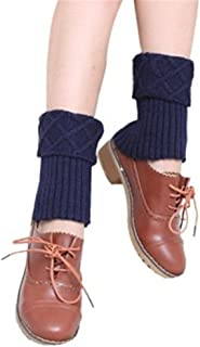 Leg Warmers Women Girl Knit Leg Warmer Boots Cuffs Cover Short Socks