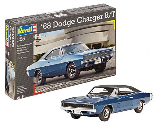 Revell-1968 Dodge Charger R/T Kit di Montaggio Auto, Colore Blu, 7188