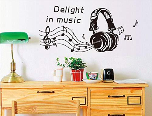 Terilizi Beat. Hoofdtelefoon Grote Hoofdtelefoons Muziek Helmen Muziek Opmerking Muursticker Home Decor Vinyl muurschildering Art Muurstickers